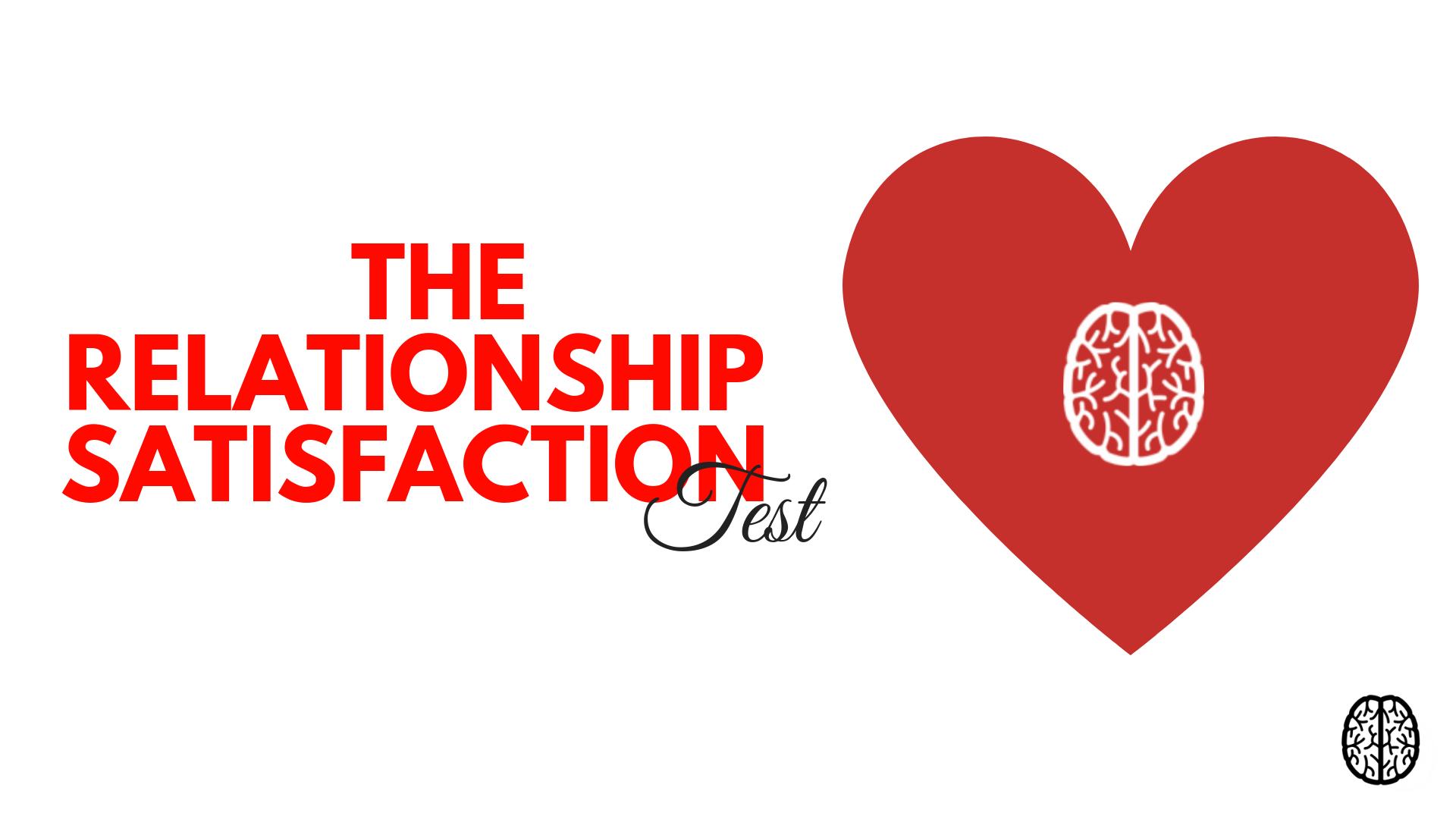 the relationship satisfaction test online